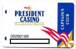 President Casino, Las Vegas, NV, U.S.A.,  older used membership card, president-5