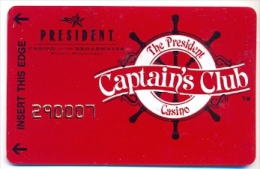 President Casino, Las Vegas, NV, U.S.A.,  older used membership card, president-7