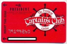 President Casino, Las Vegas, NV, U.S.A.,  older used membership card, president-8