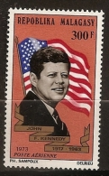 Madagascar 1973 n� PA 132 ** Pr�sident, USA, Etats-Unis d'Am�rique, John Fitzgerald Kennedy, Drapeau, Assassinat, JFK