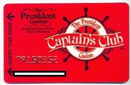 President Casino, Las Vegas, NV, U.S.A.,  older used membership card, president-9