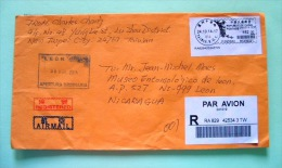 Taiwan 2015 Registered Cover To Nicaragua - Machine Franking - 1945-... Republic Of China
