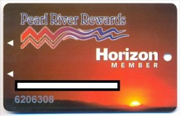 Pearl River Casino, Choctaw, MS, older used slot or player�s  card, pearlriver-11