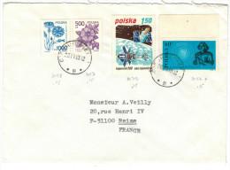 POLONIA - POLSKA - 1990?? - Kopernik 500 + Mikolaj Kopernik + 2 Fleurs - Viaggiata Da Ciechocinek Per Reims, France - Stamped Stationery