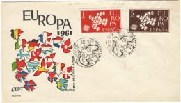 SPAGNA - ESPAÑA - Spain - Espagne - 1961 - Europa CEPT - Madrid - FDC - FDC