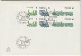 SVEZIA - SVERIGE - SWEDEN - 1975 - TRAINS STEAM LOCOMOTIVES - FDC - FDC