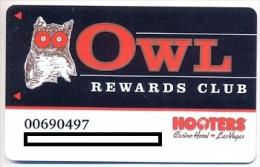 Hooters Casino, Las Vegas,  older used slot card,  hooters-2