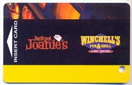 Jackpot Joanie's / Winchell's Pub & Grill, Las Vegas, NV, U.S.A.. older used slot or player's card, # winchells-1