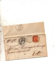 1890 LETTERA CON ANNULLO PIACENZA D'ADIGE PADOVA