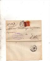 1900  LETTERA CON ANNULLO PIACENZA D�ADIGE PADOVA
