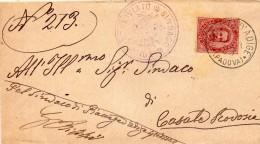 1893 LETTERA CON ANNULLO PIACENZA D'ADIGE PADOVA