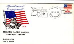 Boy Scouts Of America US Bicentennial Encampment Cover, 1976 Scouting Cover Portland Oregon - Schmuck-FDC