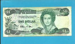 BAHAMAS - 1 Dollar  - L. 1974 ( 1984 )  - P 43.a -  Sign W. C. Allen  - 2 Scans - Bahamas