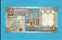 LIBYA - 1/4 Dinar - ( 2002 ) - P 62 -  UNC. - Sign. 4 - Series 5 -  See 2 Scans - Libya