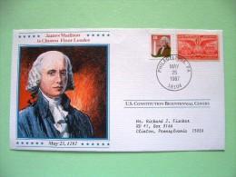USA 1987 U.S. Constitution Bicentennial Covers - James Madison - Etats-Unis