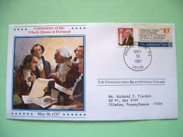 USA 1987 U.S. Constitution Bicentennial Covers - Whole House Is Formed - Lettres & Documents