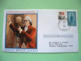 USA 1987 U.S. Constitution Bicentennial Covers - Wilson - Washington Statue - Etats-Unis