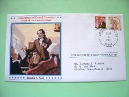 USA 1987 U.S. Constitution Bicentennial Covers - Draft Of Constitution - Liberty Bell - Etats-Unis