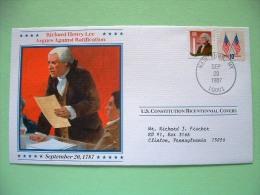 USA 1987 U.S. Constitution Bicentennial Covers - Richard Henry Lee - Flags - Etats-Unis