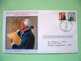 USA 1987 U.S. Constitution Bicentennial Covers - States Ratification - Capitol - Etats-Unis