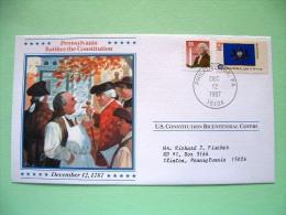 USA 1987 U.S. Constitution Bicentennial Covers - Pennsylvania - Flag - United States