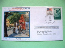 USA 1987 U.S. Constitution Bicentennial Covers - New Hampshire - Lettres & Documents