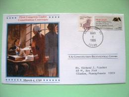 USA 1987 U.S. Constitution Bicentennial Covers - First Congress - Wagon - Etats-Unis