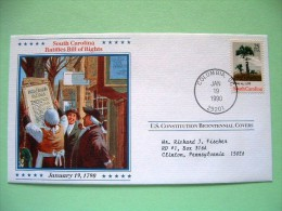 USA 1987 U.S. Constitution Bicentennial Covers - South Carolina - Tree (stamp Damaged - Etats-Unis