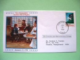 USA 1987 U.S. Constitution Bicentennial Covers - New Hampshire (stamp Damaged) - Etats-Unis