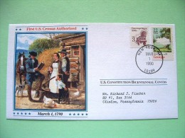 USA 1987 U.S. Constitution Bicentennial Covers - First U.S. Census - Georgia (stamp Damaged) - Lettres & Documents