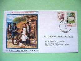 USA 1987 U.S. Constitution Bicentennial Covers - First U.S. Census - Georgia (stamp Damaged) - Etats-Unis