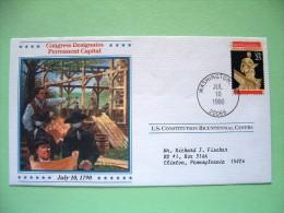USA 1987 U.S. Constitution Bicentennial Covers - Permanent Capital - Etats-Unis