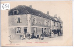 LEUGNY-HOTEL DU CHEVAL BLANC- MAISON BREUILLE-ATTELAGE-ANIMEE - Francia