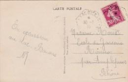 ARDECHE CP 1935 LAC D ISSARLES BUREAU D INTERET PRIVE SAISONNIER AGENCE POSTALE A GERANCE GRATUITE - Postmark Collection (Covers)