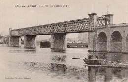 LORIENT -56- LE PONT DU CHEMIN DE FER - ANIME - BARQUE - Lorient
