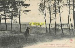 Cpa 72 Sillé Le Guillaume, Forêt Et Grand étang, Fillette Au 1er Plan, Carte Peu Courante - Sille Le Guillaume