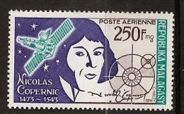 Madagascar 1974 n� PA 134 ** Science, Espace, Nicolas Copernic, Etoiles, Satellite, Chanoine, M�decin, Astronome, Soleil