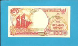 INDONESIA - 100 Rupiah - 1992/1994 - P 127.c - UNC. - Série SHV - Sailboat PINISI / Volcano ANAK KRAKATAU  - 2 Scans - Indonésie