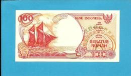 INDONESIA - 100 Rupiah - 1992/1993 - P 127.b - UNC. - Série JGJ - Sailboat PINISI / Volcano ANAK KRAKATAU  - 2 Scans - Indonésie