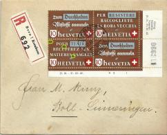 R Brief  Bern Kornhaus - Boll Sinneringen   (VB-Frankatur)           1942 - Se-Tenant