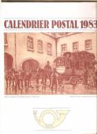 Belgique- Calendrier Postal 1983 - Service Social De La Régie Des Postes - Grand Format : 1981-90