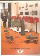 Belgique- Calendrier Postal 1984 - Service Social De La Régie Des Postes - Grand Format : 1981-90