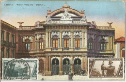 _5pk-872: Catania - Teatro Massimo  : CATANIA FERROVIA (ART-PART) -8 1 32 17 > Anvers Belgien