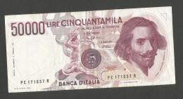 ITALIA - BANCA D´ ITALIA - 50000 Lire BERNINI - I° Tipo (Firme: Ciampi / Stevani) - REPUBBLICA ITALIANA - [ 2] 1946-… : Repubblica
