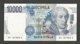 ITALIA  - 10000 LIRE A. VOLTA (Firme: Fazio / Amici) - REPUBBLICA ITALIANA - [ 2] 1946-… : République