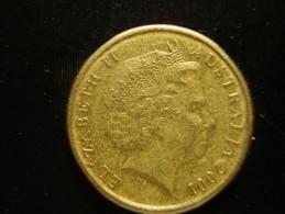 AUSTRALIA 2001 TWO DOLLARS  ABORIGINIE USED COIN GOOD CONDITION. - Decimal Coinage (1966-...)