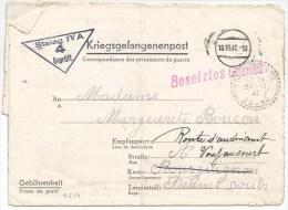 B619 - Kriegsgefangenpost - 1941 - Stalag IV A - Pour Bourguignon Voujaucourt Doubs -  - - WW II