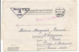 B620 - Kriegsgefangenpost - 1942 - Stalag IV A - Pour Voujaucourt Doubs -  - - WW II