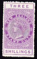 Neuseeland - Fiscalmarke SG F 100/113 * 3 Shillings - Fiscaux-postaux