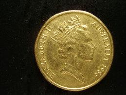 AUSTRALIA 1986 ONE DOLLAR  INTERNATIONAL YEAR Of PEACE  USED COIN GOOD CONDITION. - Decimal Coinage (1966-...)